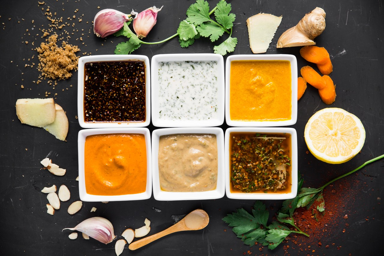 Homemade vegan sauces