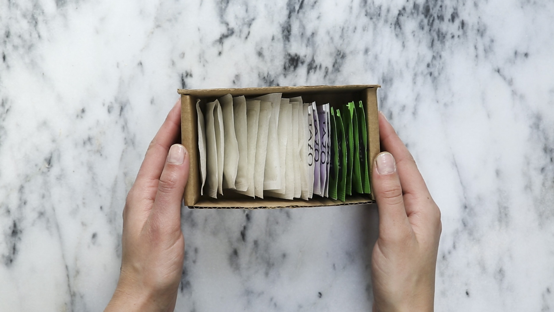 upcycle your meal kit packaging - tea storage